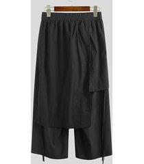 incerun hombres japón estilo kimono pantalones anchos casuales sueltos negros