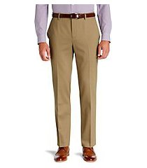 traveler collection tailored fit flat front comfort waist twill pants clearance by jos. a. bank