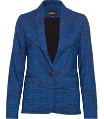 chaq turin blazer colbert blauw desigual