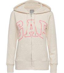 gap logo easy hoodie hoodie trui beige gap