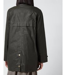 barbour x alexa chung women's winslet wax jacket - archive olive/classic - uk 14