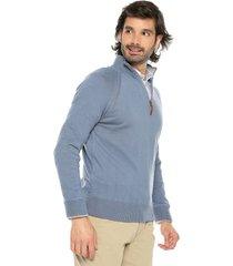 sweater azul 6 preppy m/l dos colores c/alto media cremallera