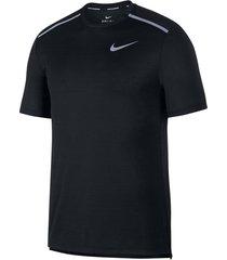 camiseta nike dri-fit miler para hombre - negro