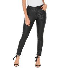 calça calvin klein jeans jegging resinada preta