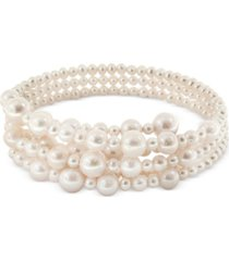 pearl lace by effy cultured freshwater pearl (5-1/2, 7-1/2, 10, 12mm) coil choker necklace
