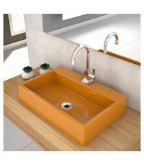 cuba de apoio p/banheiro compace florenza q550w retangular amarela