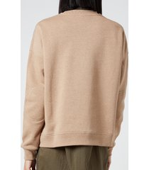 ganni women's isoli sweatshirt - tannin - l/xl