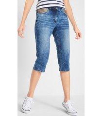 capri jeans met pailletten