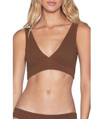 women's maaji allure texture 4-way reversible bikini top