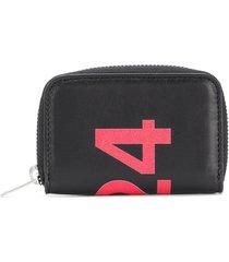 424 printed zip around wallet - black