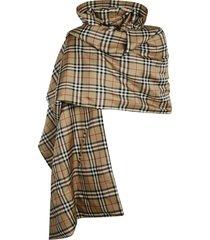 burberry vintage check silk pocket cape