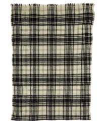 women's isabel marant suzanne check wool & cashmere scarf, size one size - black