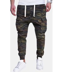 cargo pantaloni skinny con coulisse