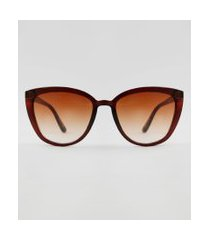 óculos de sol gatinho feminino yessica marrom