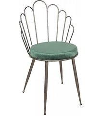 krzesło metalowe metaliczne nora