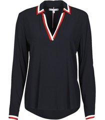 blouse tommy hilfiger viscose her popover blouse ls