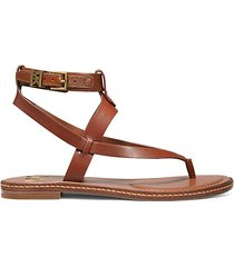 pearson leather toe-thong sandals