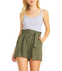 women's bb dakota by steve madden day in the life shorts, size small - green