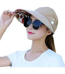 chapéu viseira em tecido com estampa feminina
