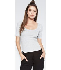 park fitted top - l heather grey