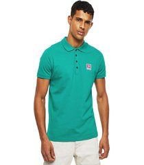 polera t kal patch polo shirt verde diesel