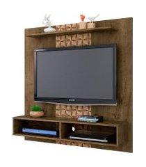painel gama madeira rústica/madeira 3d móveis bechara marrom