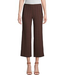odette plaid cropped pants