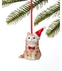 holiday lane pets cat in santa hat ornament, created for macy's