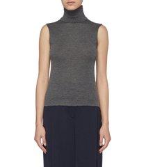 becca' cashmere-silk blend turtleneck top
