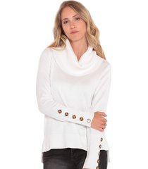 sweater wados beattle cuello tortuga blanco - calce regular