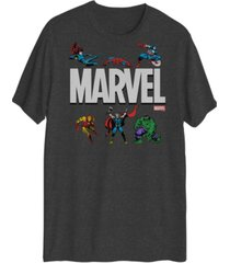 marvel action logo men's short sleeve graphic t-shirt