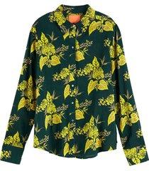 blouse printed groen