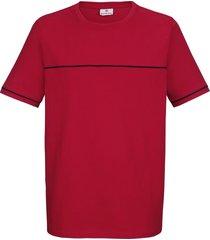 t-shirt boston park röd::marinblå