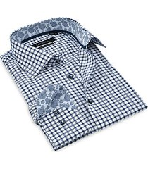 check print dress shirt