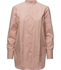 band collar long shirt overhemd met lange mouwen roze filippa k
