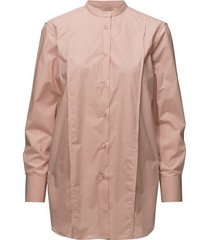 band collar long shirt overhemd met lange mouwen roze filippa k