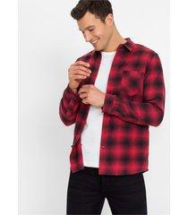 flanellen overhemd, slim fit