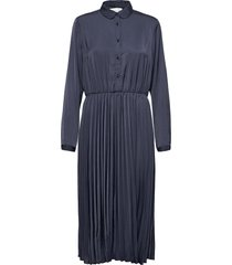 dress ls jurk knielengte blauw rosemunde