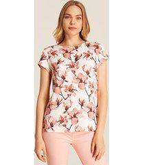 camiseta estampada floral-xs