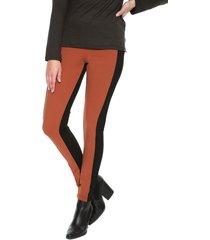 pantalón legging terracota y negro natural basic