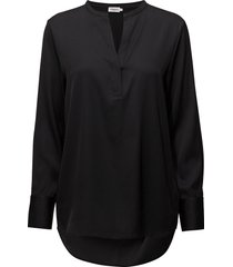pull-on silk blouse blouse lange mouwen zwart filippa k