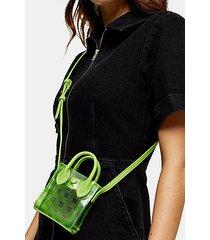 jax lime green micro mini tote bag - lime