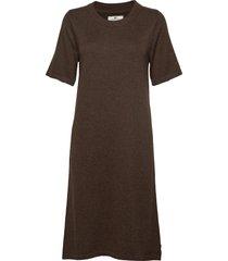 amy knitted dress jurk knielengte bruin lexington clothing