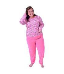 pijama plus size de frio ursinho