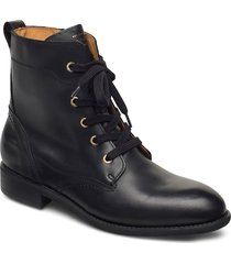 ainsley mid lace boot shoes boots ankle boots ankle boot - flat svart gant