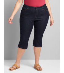 lane bryant women's signature fit pedal jean - dark wash 28 dark denim