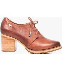 zapatos delta de cuero con cordón  para mujer