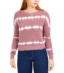 bar iii cotton striped tie-dyed sweater, created for macy's