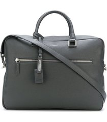 saint laurent small museum flat briefcase - grey