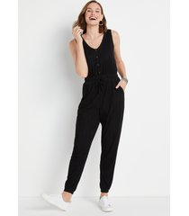 maurices womens 24/7 solid ribbed jumpsuit